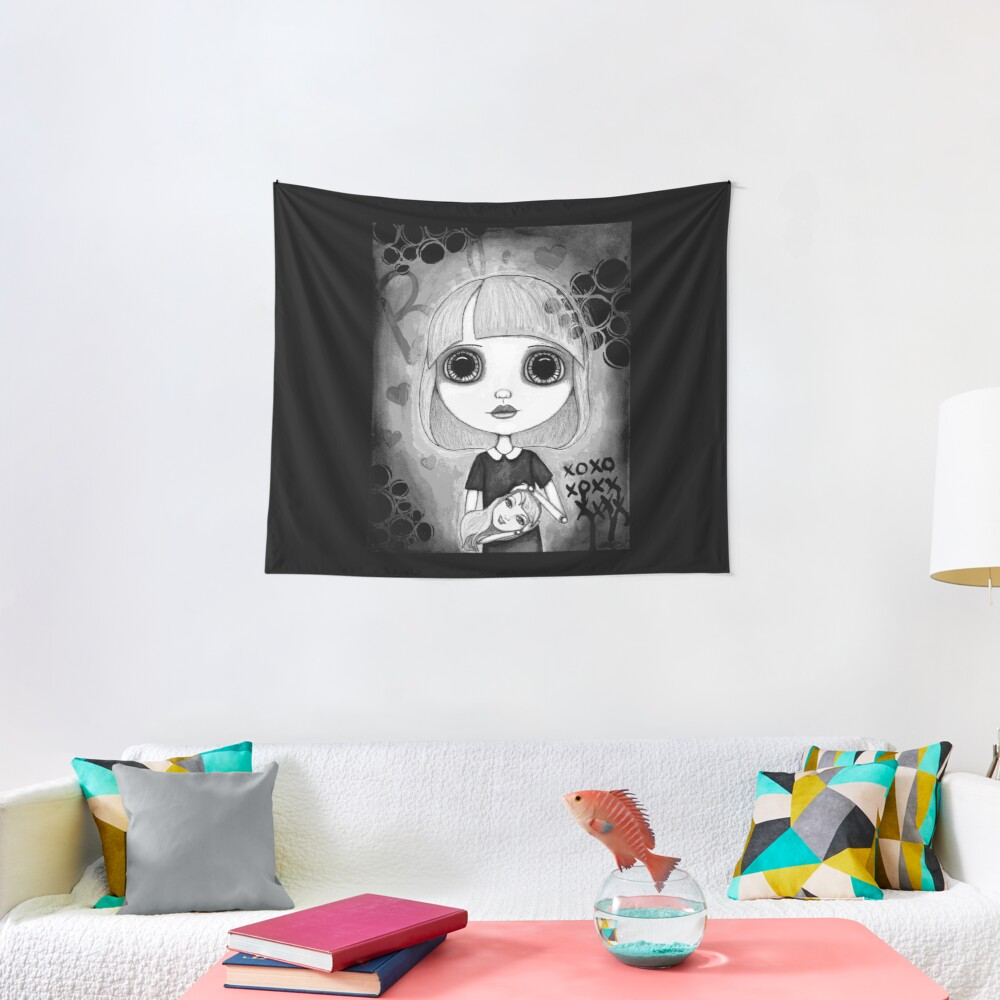 Number One Fan (Black & White Version) Tapestry
