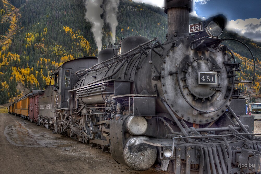 Durango & Silverton Narrow Gauge Train by rjcolby