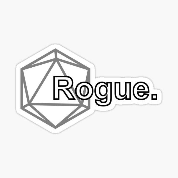 Simple D&D Rogue Class Sticker