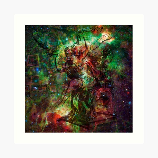 When The Stars Are Right - The Heart and Soul Nebulae in Cassiopeia Art Print