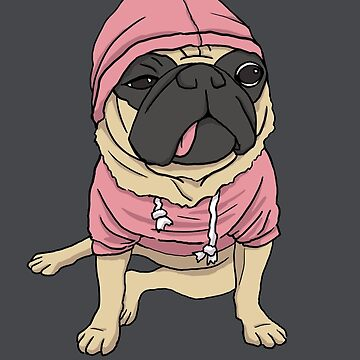 Puggin' so Hard - No Text by pugshop