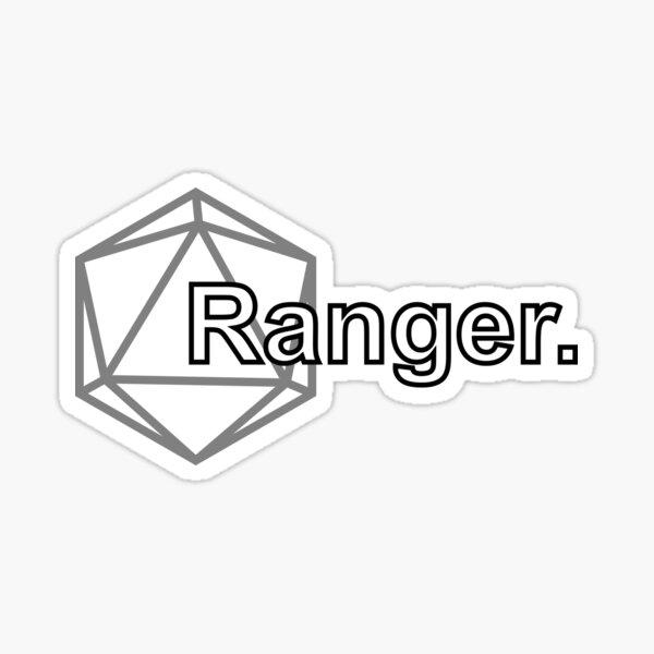Simple D&D Ranger Class Sticker
