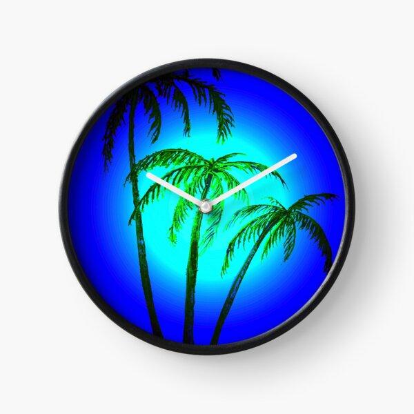 Moonlight Palms Clock
