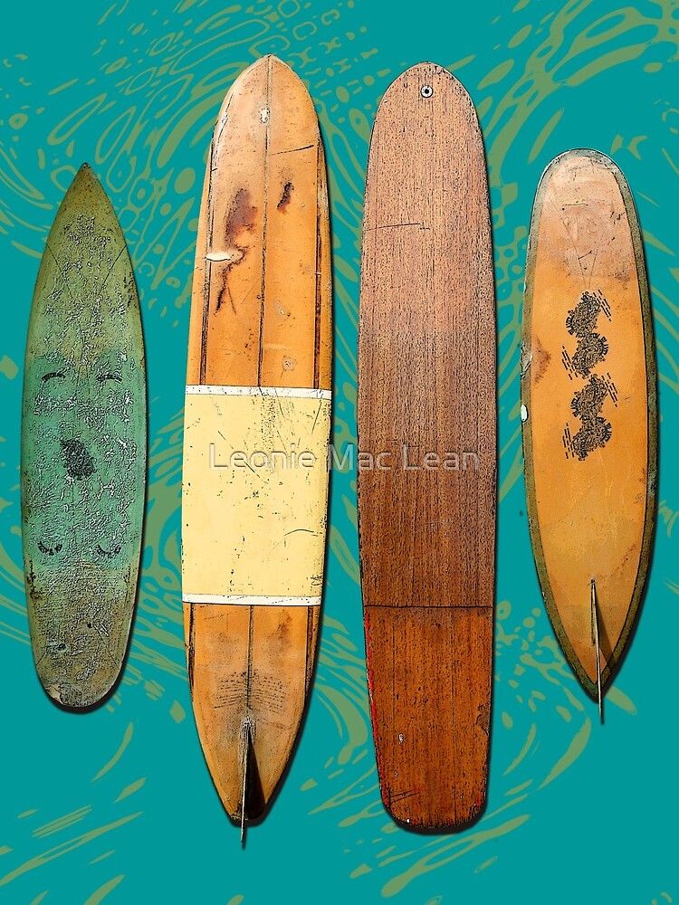 Old Surf Boards for Old Hippies, vintage, retro. by yallmia