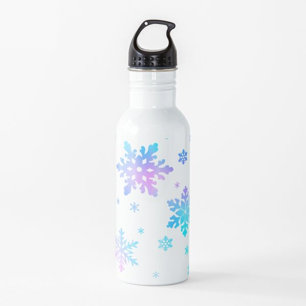 Neon Colorful Snowflakes Water Bottle