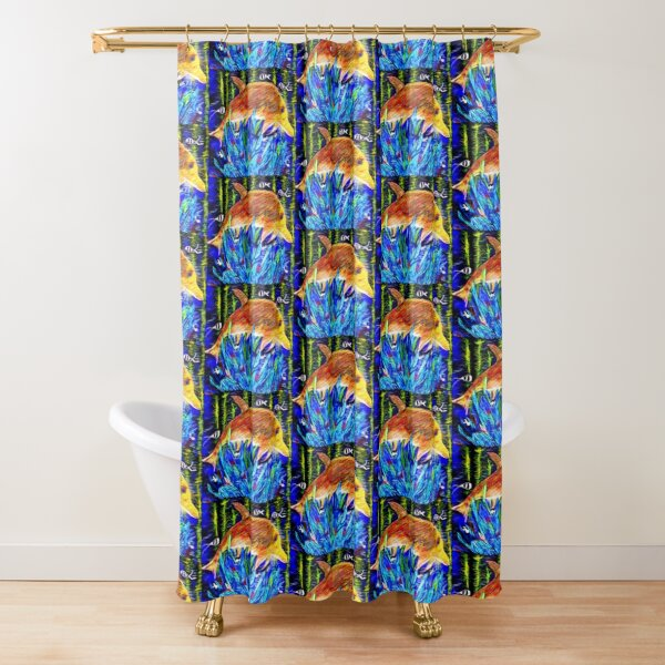 Let all creatures of the deep praise the Lord Shower Curtain