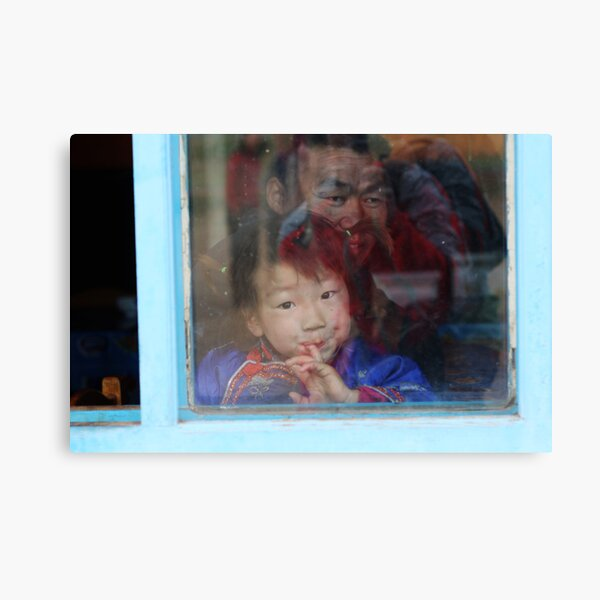 Girl in a Window Canvas Print