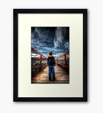 Nothing But The Future Framed Print