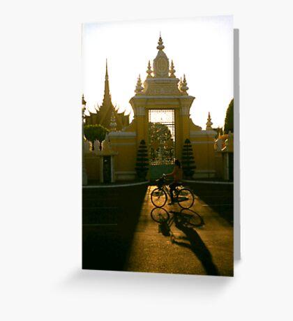 palace gate, phnom penh, cambodia Greeting Card