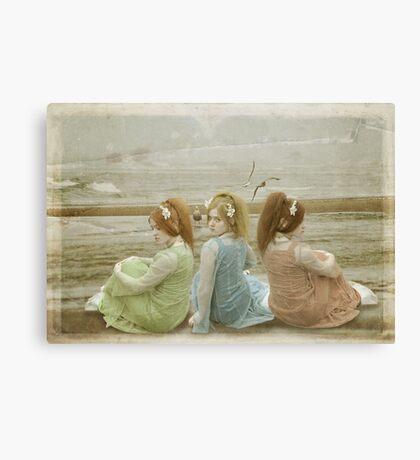 trois belles femmes de la mer Canvas Print
