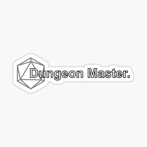Simple D&D Dungeon Master  Sticker