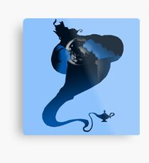 The Genie and the Moon  Metal Print