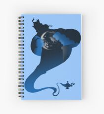 The Genie and the Moon  Spiral Notebook