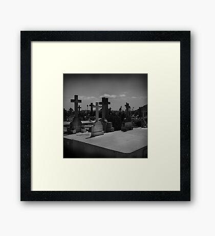 Spanish Graveyard Framed Print