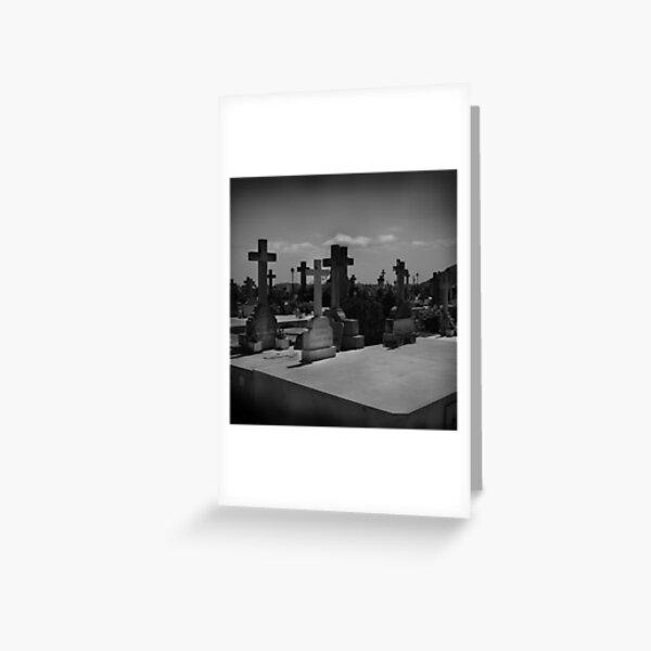 Spanish Graveyard Greeting Card