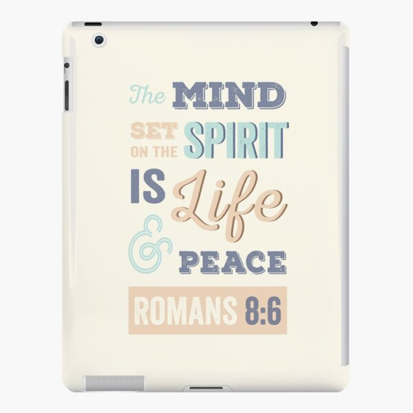 Happy, Bright, Colourful, Modern Typographic Bible Verse. iPad Snap Case