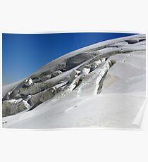glacier and crevasses Poster