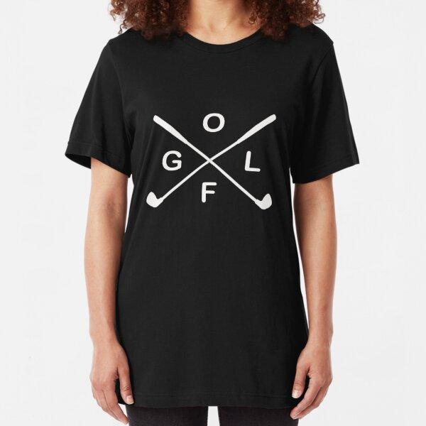 Awesome Golfer & Golf Lovers Golf Design Slim Fit T-Shirt