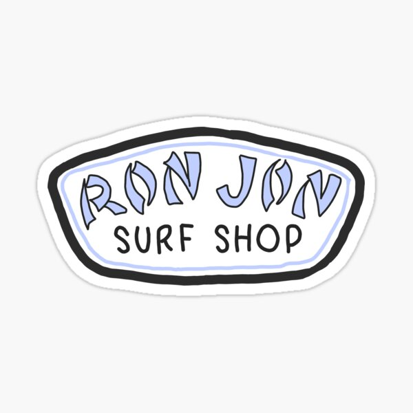 blue ron jon surf shop Sticker