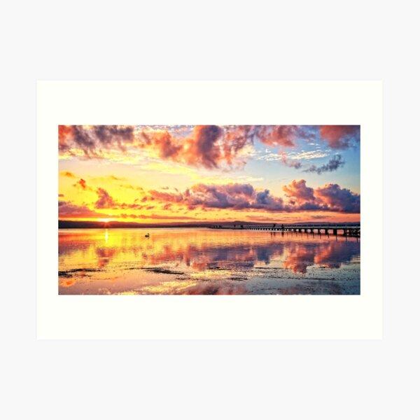 Sunset colours. Art Print