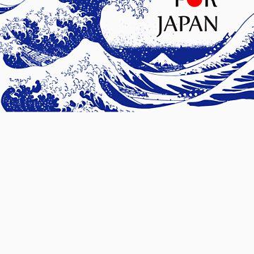 PRAY FOR JAPAN - Hokusai by suemari