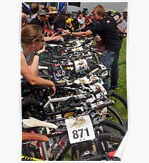 mountain bikes Poster