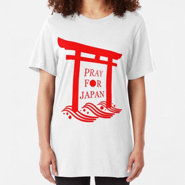 PRAY FOR JAPAN - Torii Slim Fit T-Shirt