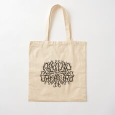 Death Metal Logo - Black Cotton Tote Bag