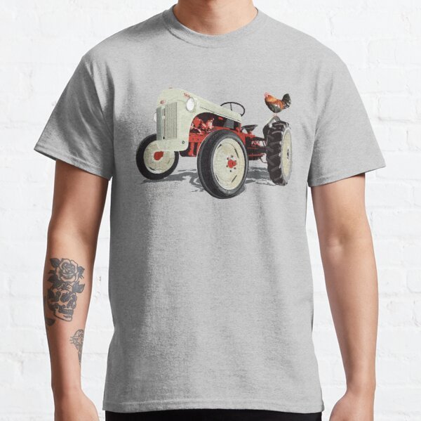 Old Redbelly, the Ford8N – with Barney the 'Rooster' Classic T-Shirt