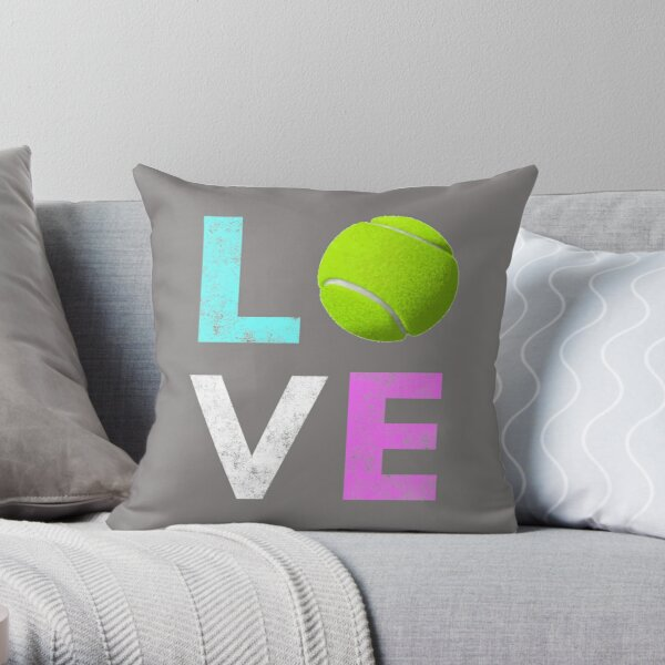 Awesome Tennis gift for Girls & Women LOVE Tennis Love Throw Pillow