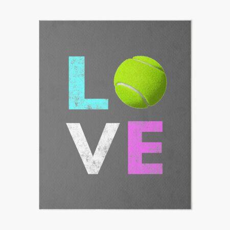 Awesome Tennis gift for Girls & Women LOVE Tennis Love Art Board Print