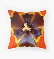 Inside a red tulip ! Throw Pillow