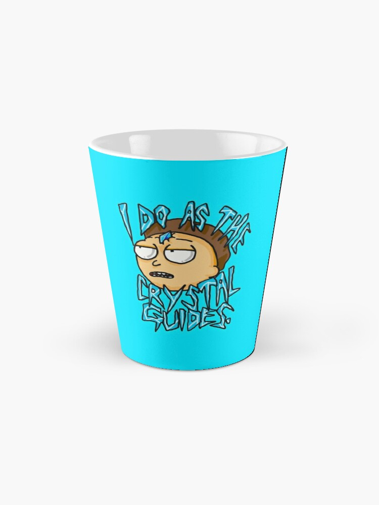 "Alternate view of Morty ""I Do As The Crystal Guides"" quote from Rick and Morty™ Death Crystal Mug"