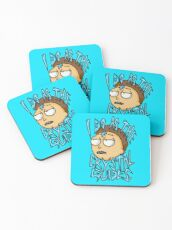 "Morty ""I Do As The Crystal Guides"" quote from Rick and Morty™ Death Crystal Coasters"