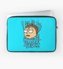 """Morty """"I Do As The Crystal Guides"""" quote from Rick and Morty™ Death Crystal Laptop Sleeve"""