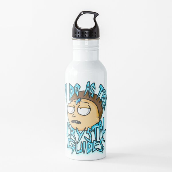 "Morty ""I Do As The Crystal Guides"" quote from Rick and Morty™ Death Crystal Water Bottle"