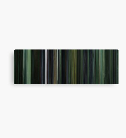 Moviebarcode: The Matrix (1999) Canvas Print