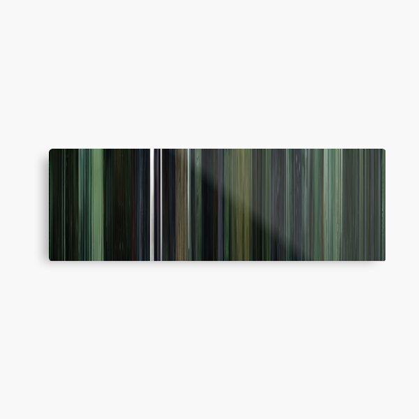Moviebarcode: The Matrix (1999) Metal Print