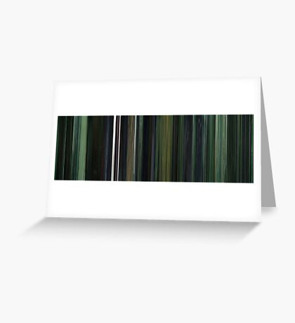 Moviebarcode: The Matrix (1999) Greeting Card