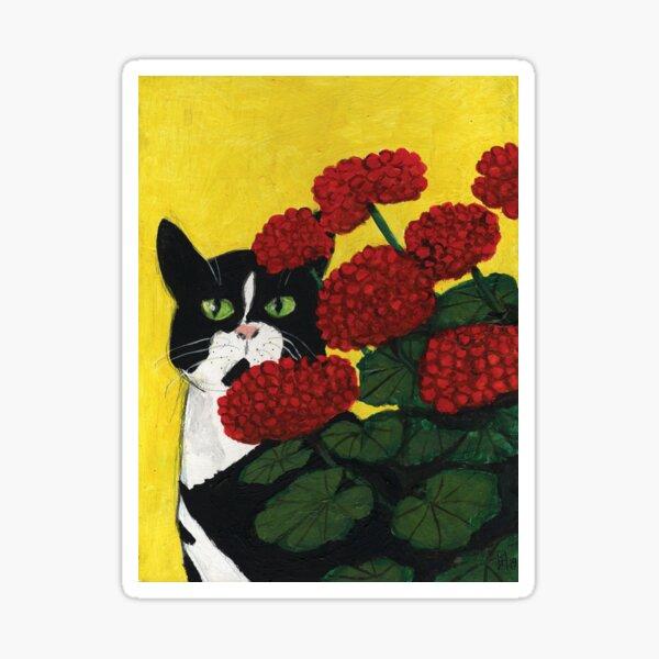 Cat Amongst the Geraniums 3 Sticker