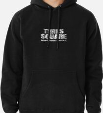 Times Square New York City (B&W market sketch on black) Pullover Hoodie