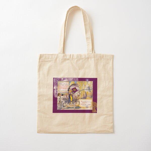 Women's March On Washington 1913, Women's Suffrage With Gorgeous Purple Embellishments,  Cotton Tote Bag