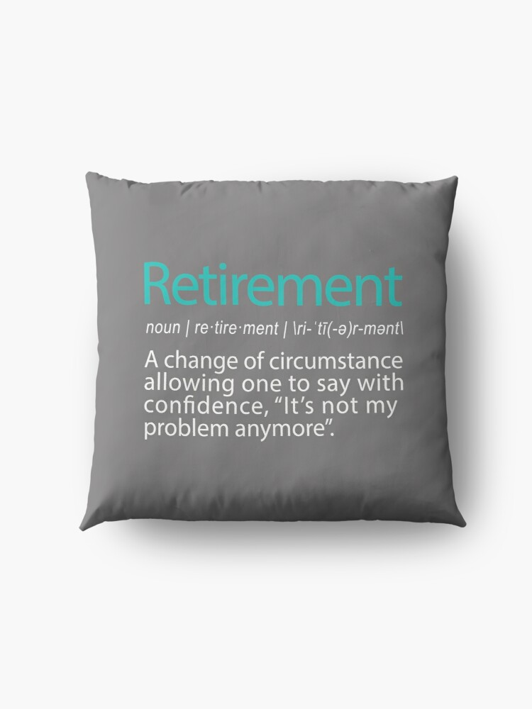 Alternate view of Funny Retirement Not my Problem anymore Gift design Floor Pillow