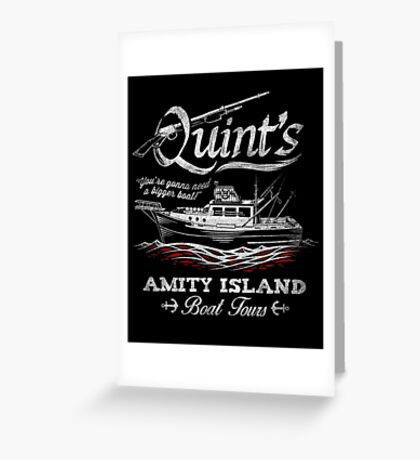 Quint's Boat Tours Greeting Card