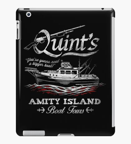 Quint's Boat Tours iPad Case/Skin
