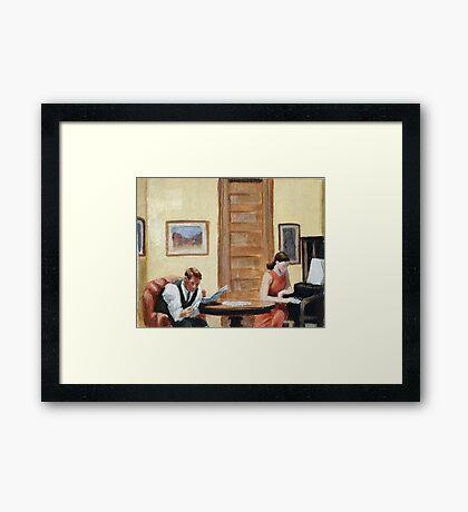 After Hopper Room in New York Framed Print