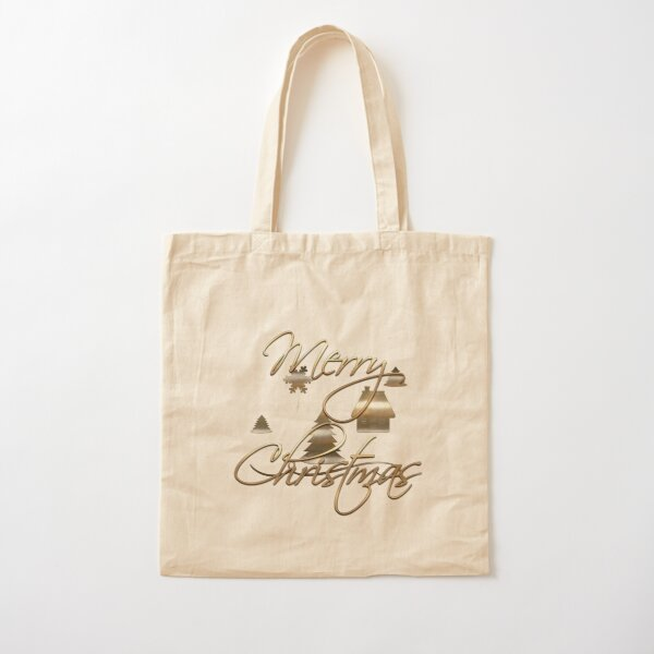 Merry Christmas Cotton Tote Bag