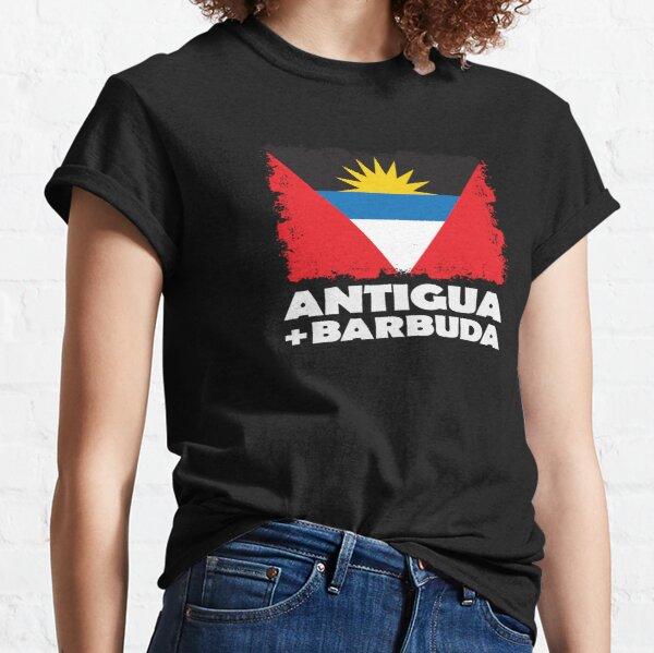 Antigua and Barbuda National Flag Distress  Classic T-Shirt