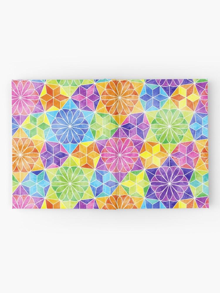 Alternate view of Rainbow mandala kaleidoscope Hardcover Journal