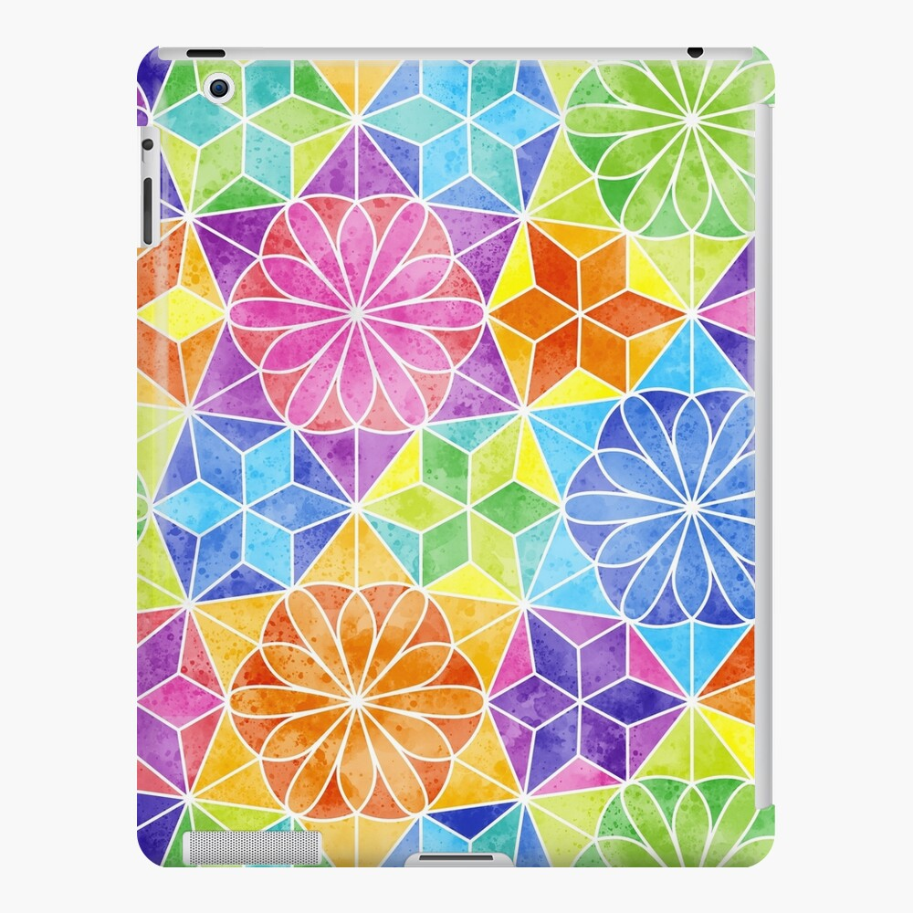Rainbow mandala kaleidoscope iPad Case & Skin